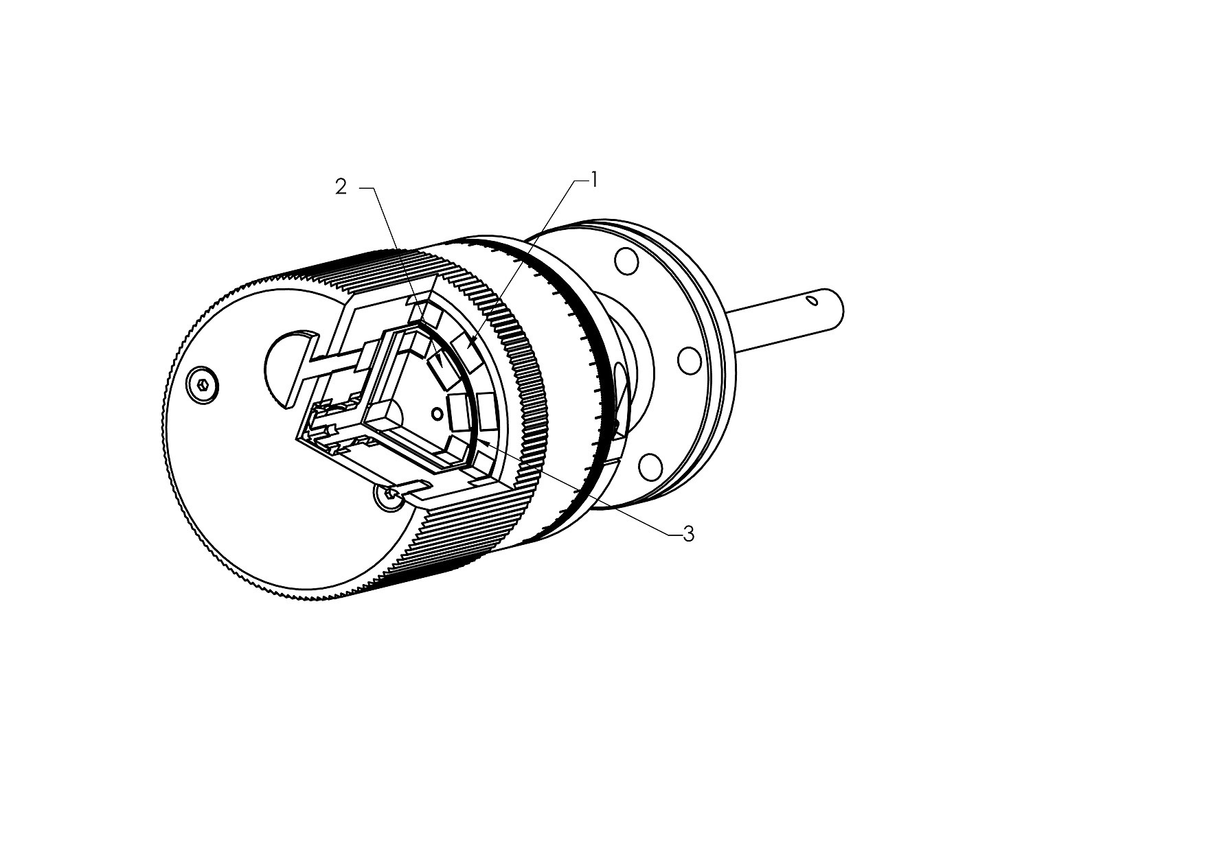 Magnetically coupled UHV rotary 			feedthrough