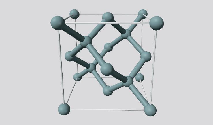硅类金刚石的晶体结构