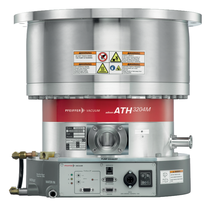 ATH 3204 M, DN 320 ISO-F, water-cooled, non-heated, with integrated drive electronics